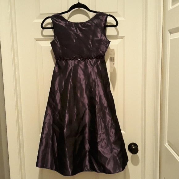 Rare Editions Other - BRAND NEW plum / purple color dress girls size 10